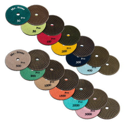 Premium Wet Polishing Pads Metal Bond - Mr. Stone, LLC