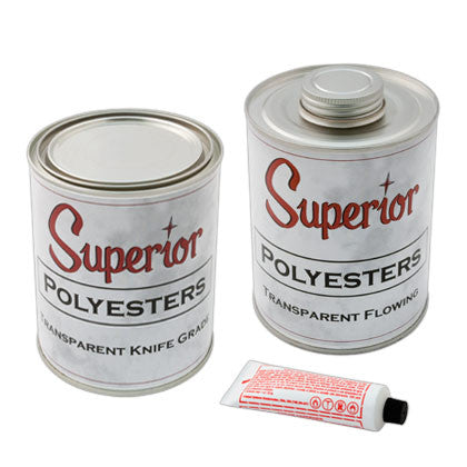 Superior Polyester Transparent Adhesive - Mr. Stone, LLC