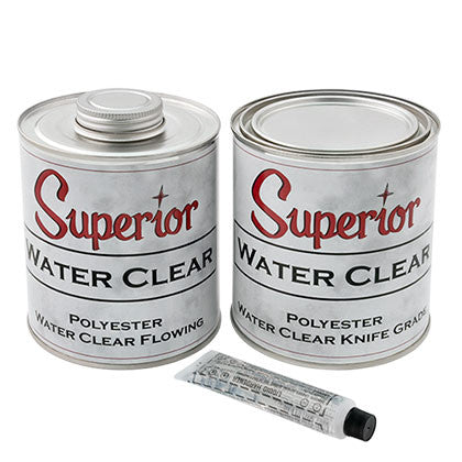 Superior Water Clear Polyester Adhesive