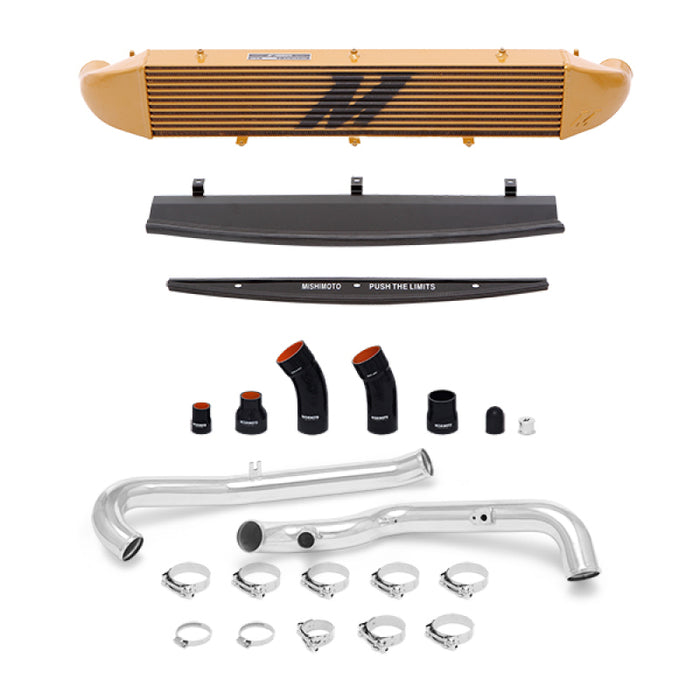 Mishimoto 2014-2016 Ford Fiesta ST 1.6L Front Mount Intercooler (Gold) Kit w/ Pipes (Silver)