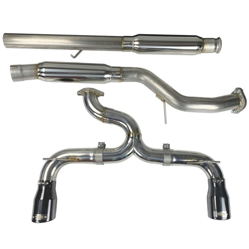 Injen 16-18 Ford Focus RS 3in Cat-Back Stainless Steel Exhaust w/ 4in Black Chrome Tips