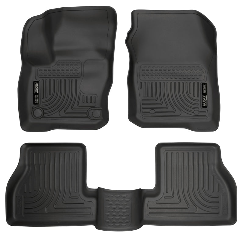 Husky Liners Weatherbeater 2016 Ford Focus RS Front & 2nd Seat Floor Liners - Black
