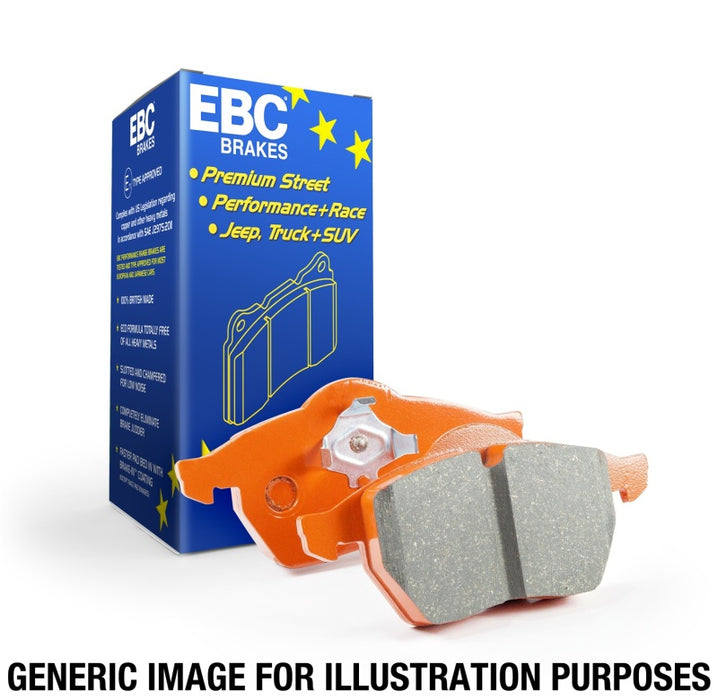 EBC 13-19 Ford Fiesta ST 1.6L Turbo Orangestuff Rear Brake Pads