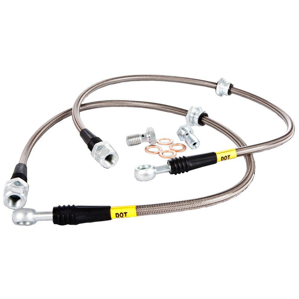 Stoptech 2014 Ford Fiesta ST Stainless Steel Rear Brake Lines