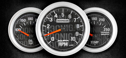 AutoMeter Officially Licensed Hoonigan Gauges