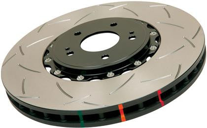 DBA 12-16 Ford Focus ST T3 5000 Series Uni-Directional Slotted Rotor Black Hat - Front