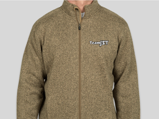 **Team JST Embroidered Full Zip Sweater Fleece Jacket