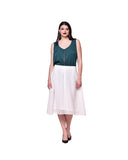 Qurvii Elegant box pleat skirt