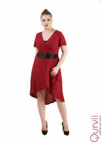 Hi Lo Overlap Dress