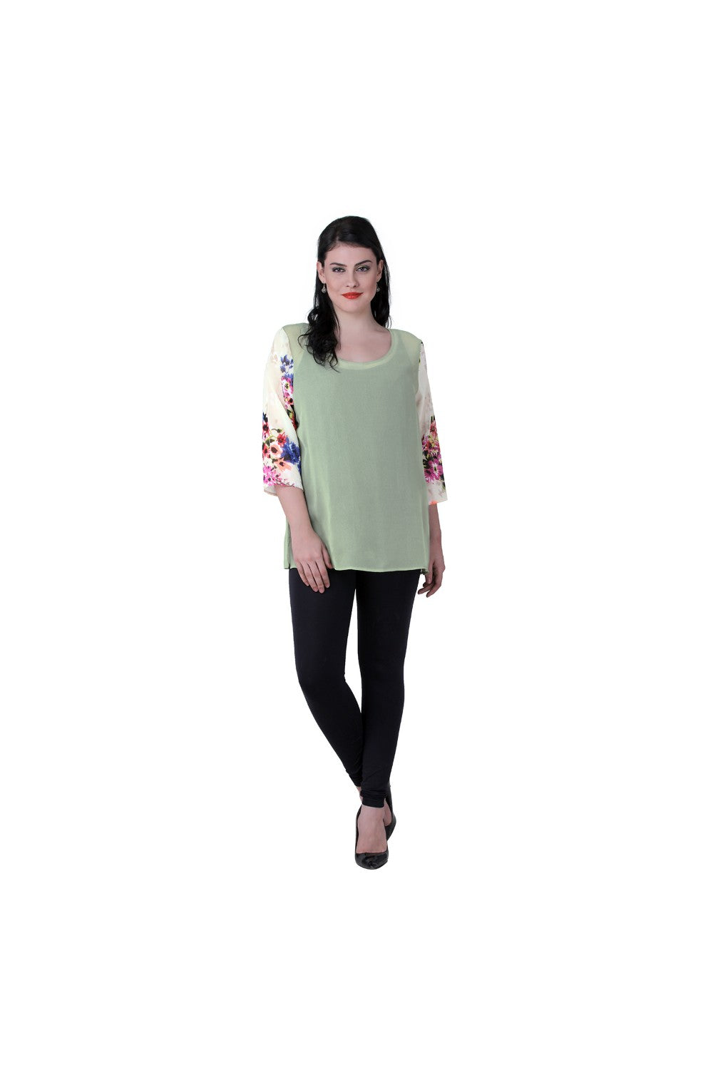 Qurvii Sheer georgette top