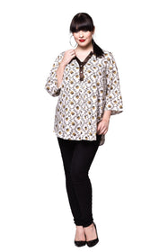 Qurvii Half placket cotton tunic.