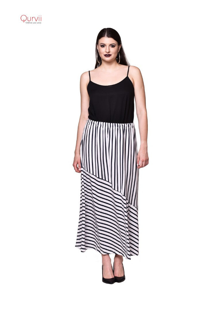 Jersey stripe skirt
