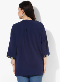 Mosscrepe half placket tunic