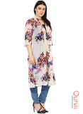 Qurvii Designer Floral Duster Shrug For Women