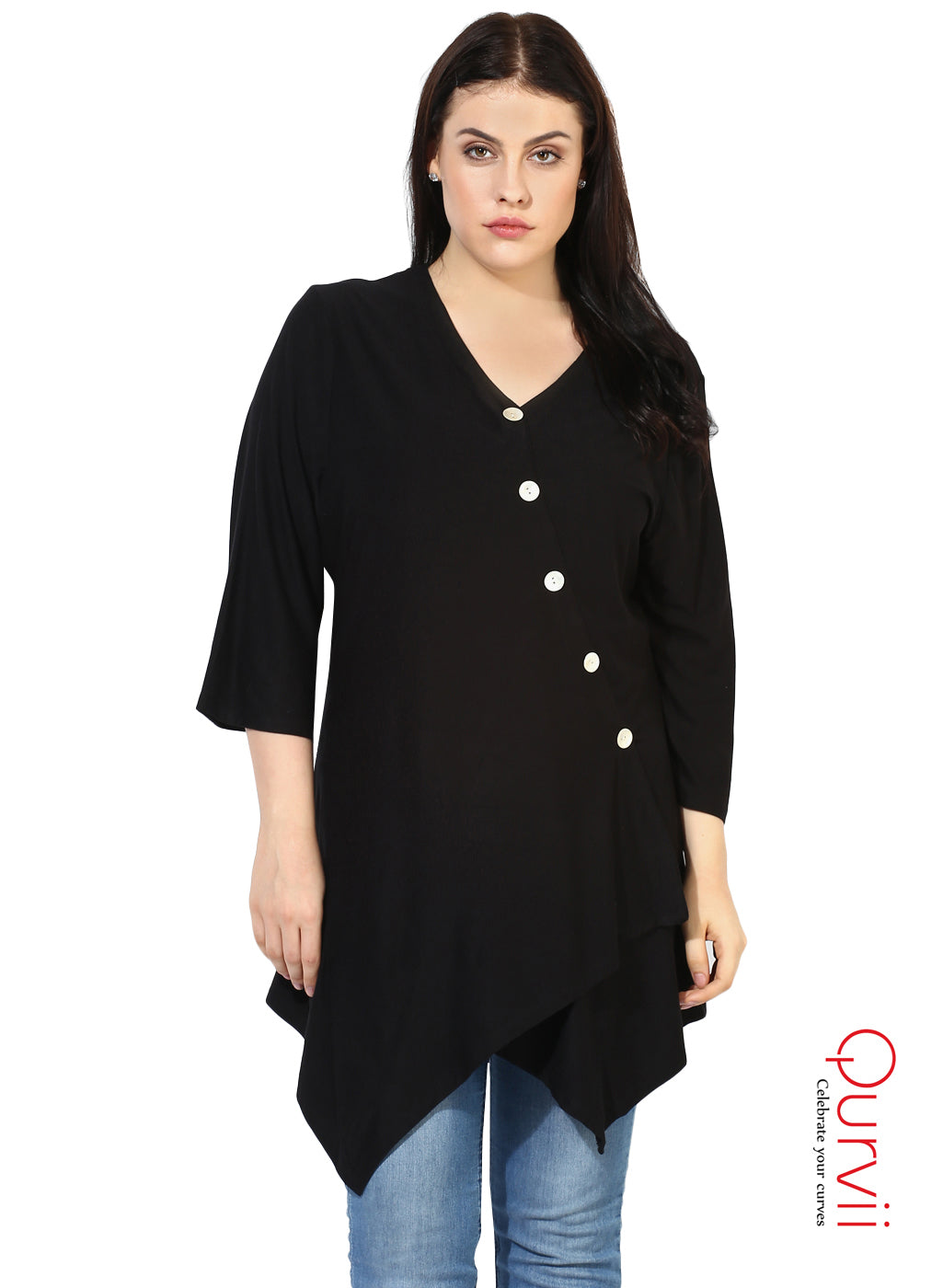 Women Jersey Asymmetrical Hem Shirt For Women