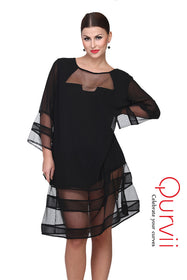 Net hem Dress
