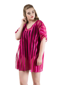 Qurvii Striper kaftan top