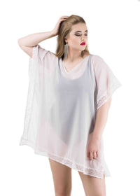 Sheer  kaftan top
