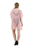Qurvii Striped Kaftan Cover-up