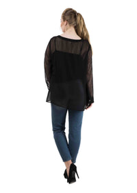 Sheer Jacquard Shirt