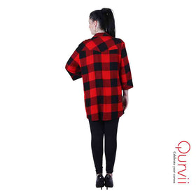 red and Black check Shirt