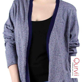 Navy slub shrug