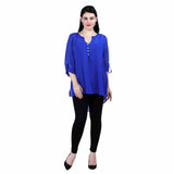 Royal blue georgette Tops/Tunics