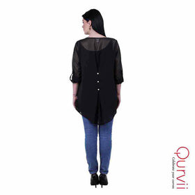 Black georgette Tops/Tunics