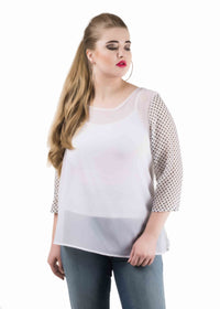 Polka sleeve top