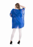 Sheer royal blue georgette kaftna coverup