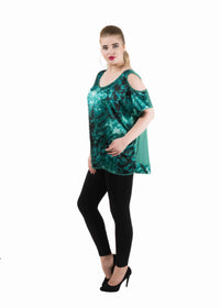 Satin Silk Cold Shoulder Tops/Tunics