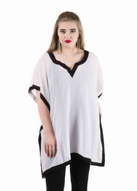 Sheer  kaftan Tops/Tunics