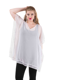 Lace coverup kaftan