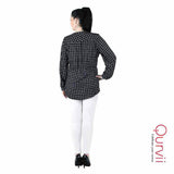 Plaid Long sleeves Tops/Tunics