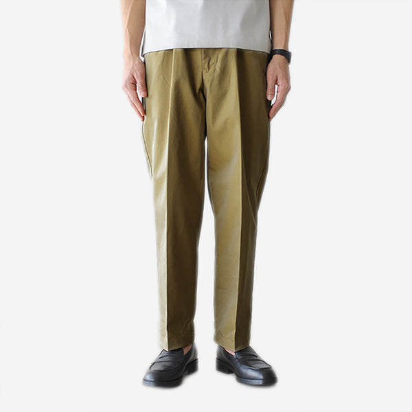 STILL BY HAND - Water Repellent Chino Pants - Beige