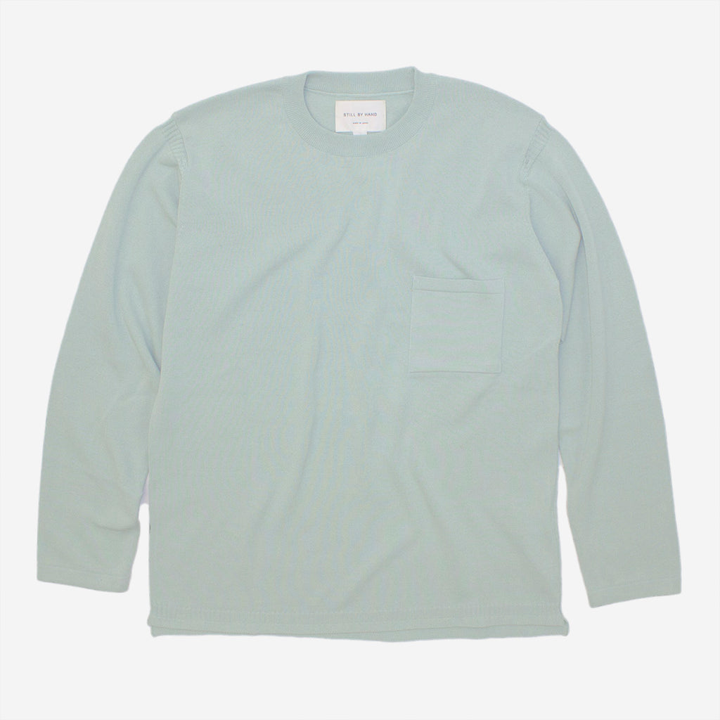 STILL BY HAND - Hi-Twist Gandhi Knit Crewneck - Mint