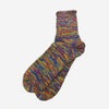 5 Colour Mix Quarter Socks - Purple