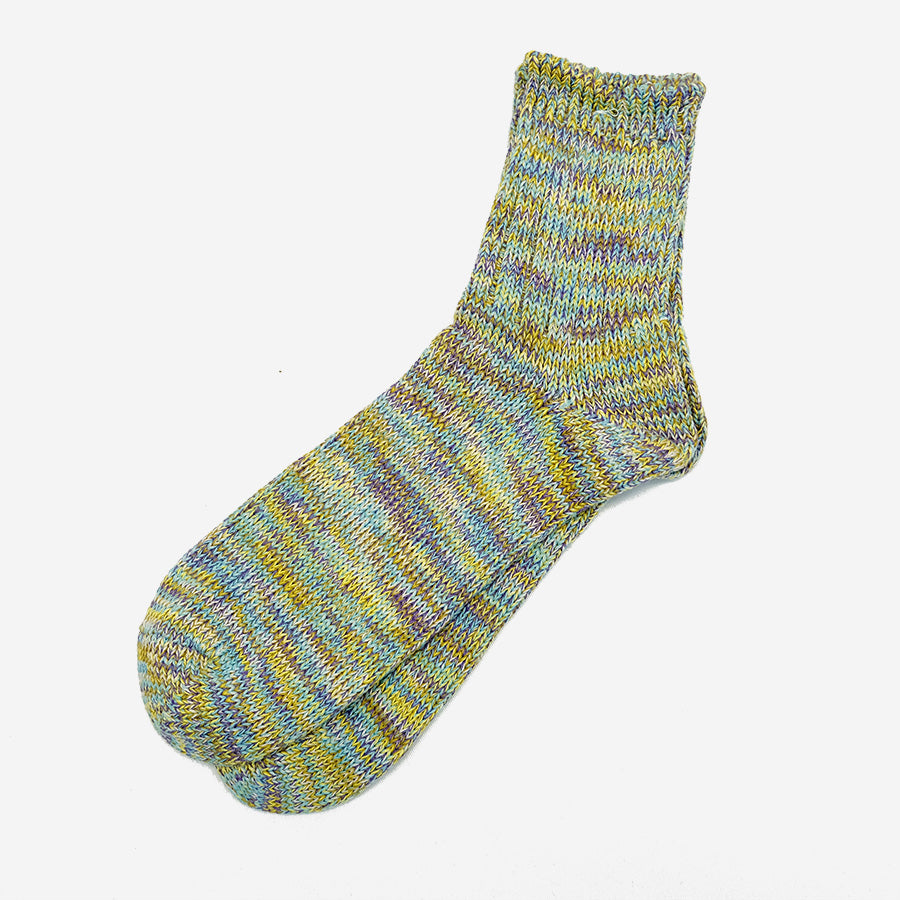 Anonymous Ism - 5 Colour Mix Quarter Socks - Yellow
