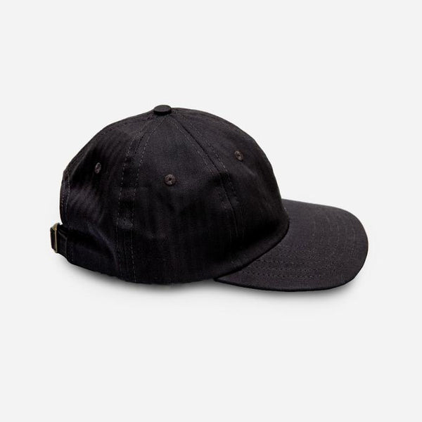 3sixteen - 6-Panel Cap - Black Herringbone Twill