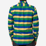 Portuguese Flannel - Alpes Stripe Flannel Shirt - Yellow/Blue/Green
