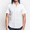 Portuguese Flannel - Atlantico Short-Sleeve Shirt - White Seersucker
