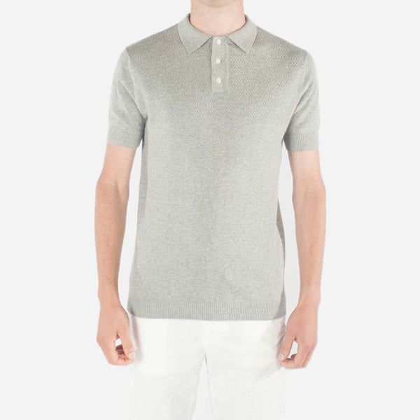 Kestin Hare - Attadale Knit Polo - Grey Marl