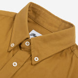 Gino Brushed Twill Flannel Shirt - Ochre