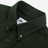 Gino Brushed Twill Flannel Shirt - Forest Green
