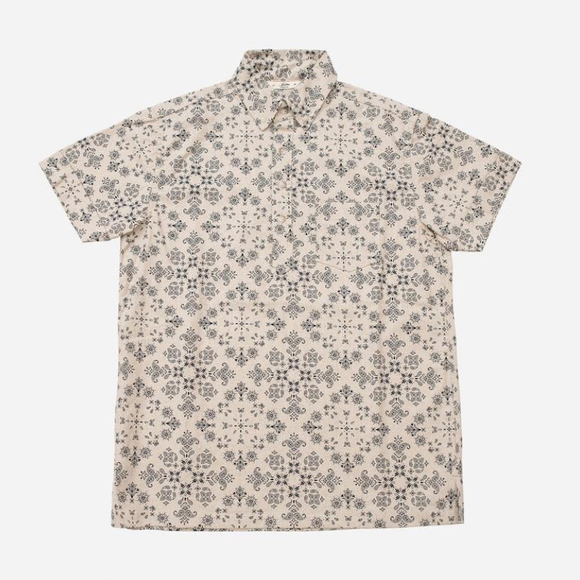 3sixteen - Popover Short-Sleeve Shirt - Natural Bandana