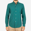 Portuguese Flannel - Belavista Lightweight Oxford Long-Sleeve Shirt - Billard Green