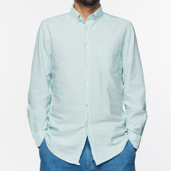 Portuguese Flannel - Belavista Lightweight Oxford Long-Sleeve Shirt - Gum