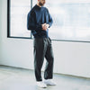STILL BY HAND - Belted Melton Wool Pants - Grey