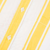 Portuguese Flannel - Biarritz Short-Sleeve Shirt - Yellow Stripe