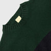 Country Of Origin - Blocks Mohair Stripe Sweater - Green/Navy